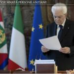Mattarella: «L'esempio degli anziani è un patrimonio straordinario che non dobbiamo e non vogliamo disperdere»