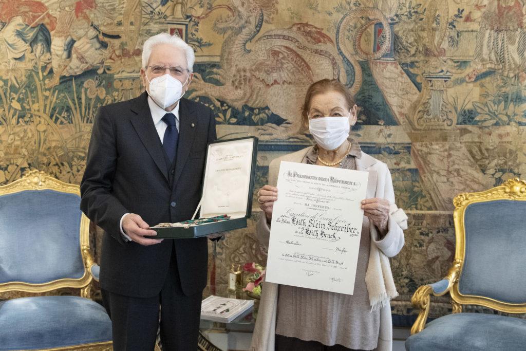"""Mattarella riceve Edith Bruck: """"Raccontare è un dovere morale"""""""